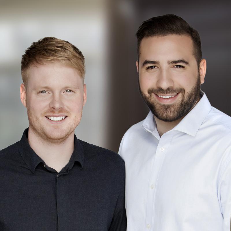 Vincent Morin et Nathan Gagnon - Courtiers immobiliers pour Maxxum 100 - agence immobilière